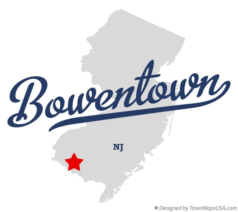Map of Bowentown New Jersey NJ