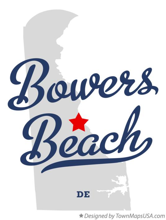 Map of Bowers Beach Delaware DE