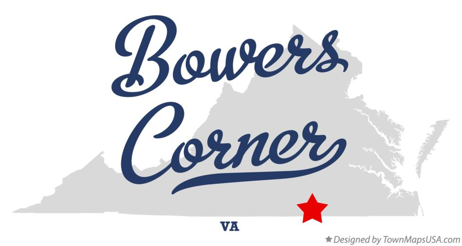Map of Bowers Corner Virginia VA
