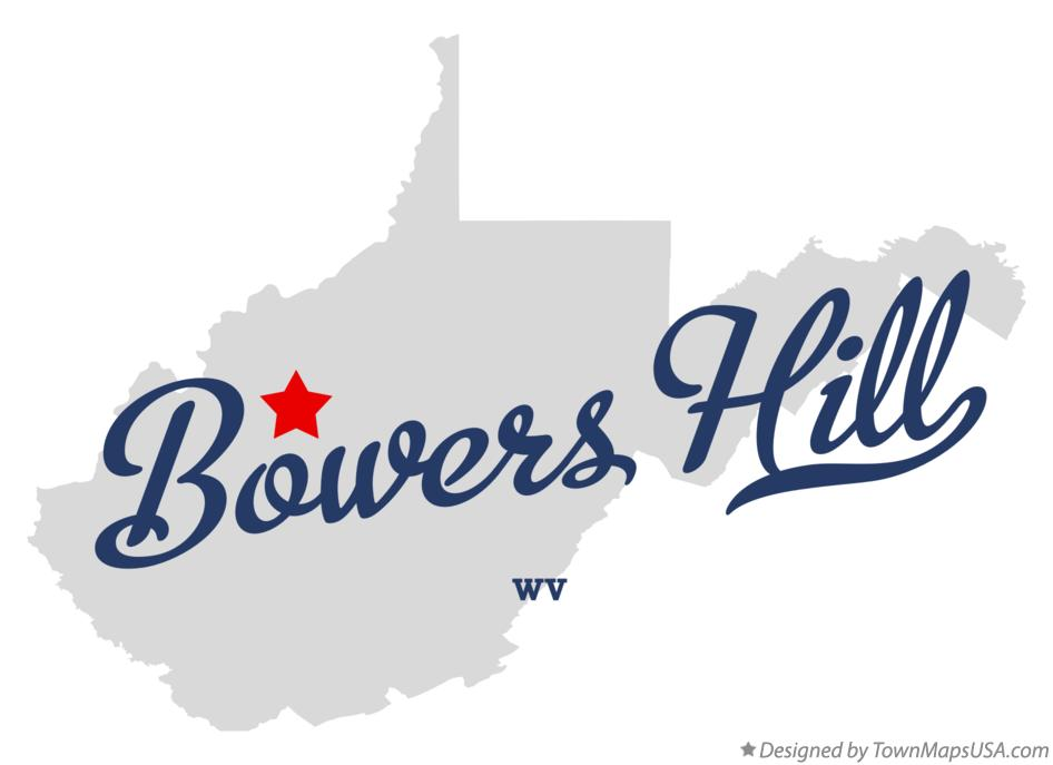 Map of Bowers Hill West Virginia WV