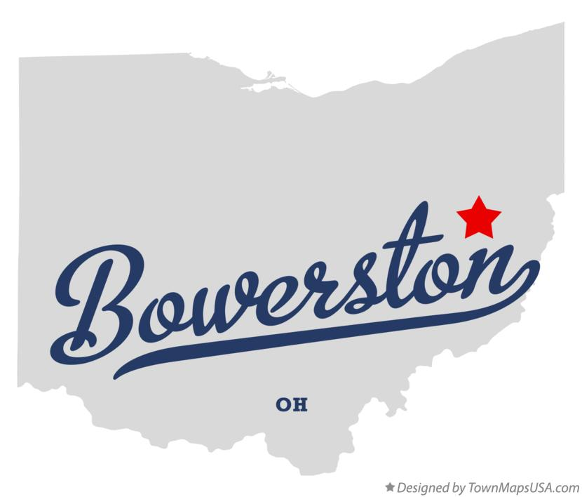 Map of Bowerston Ohio OH