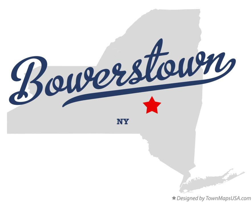 Map of Bowerstown New York NY