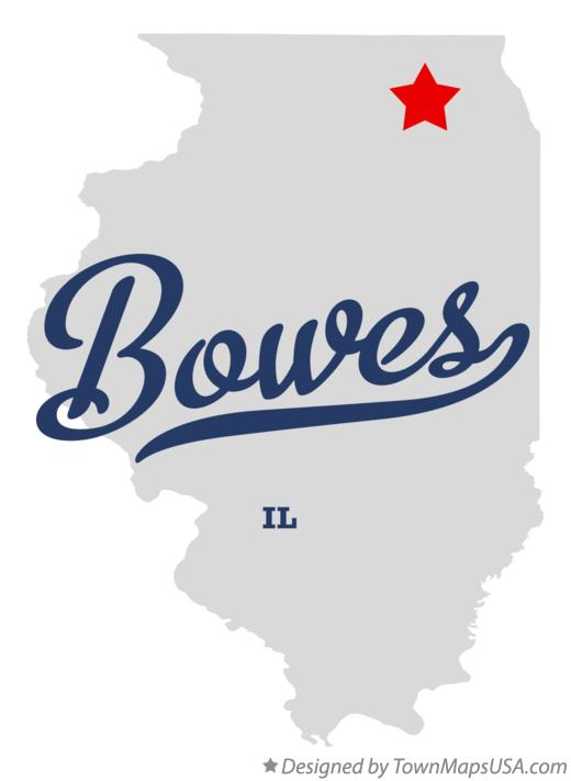 Map of Bowes Illinois IL