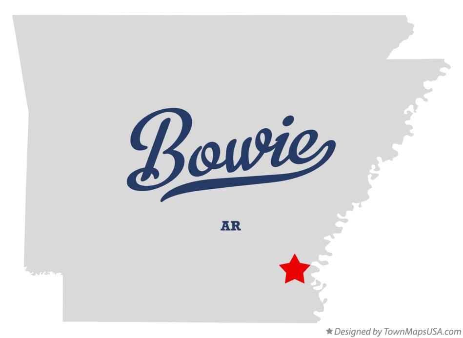 Map of Bowie Arkansas AR