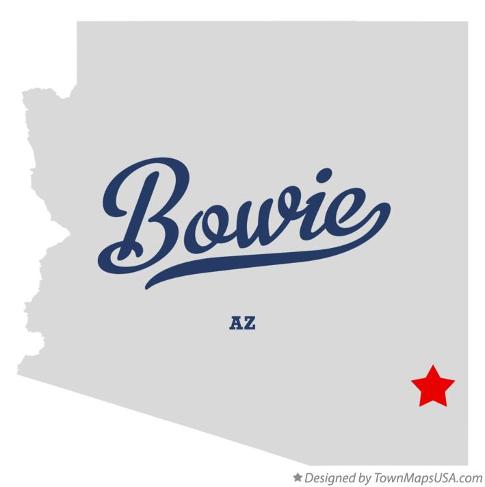 Map of Bowie Arizona AZ