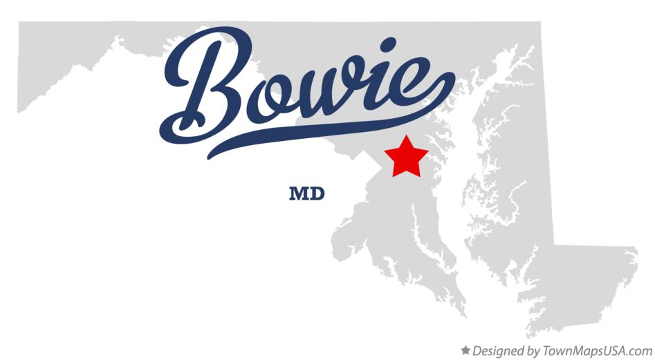 Map of Bowie Maryland MD