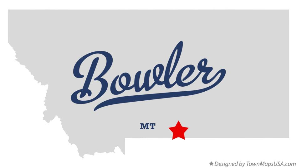 Map of Bowler Montana MT
