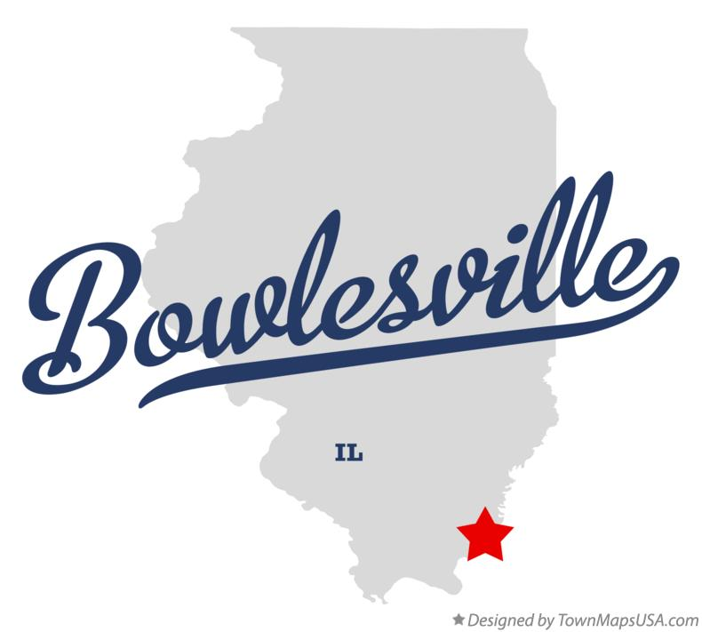 Map of Bowlesville Illinois IL