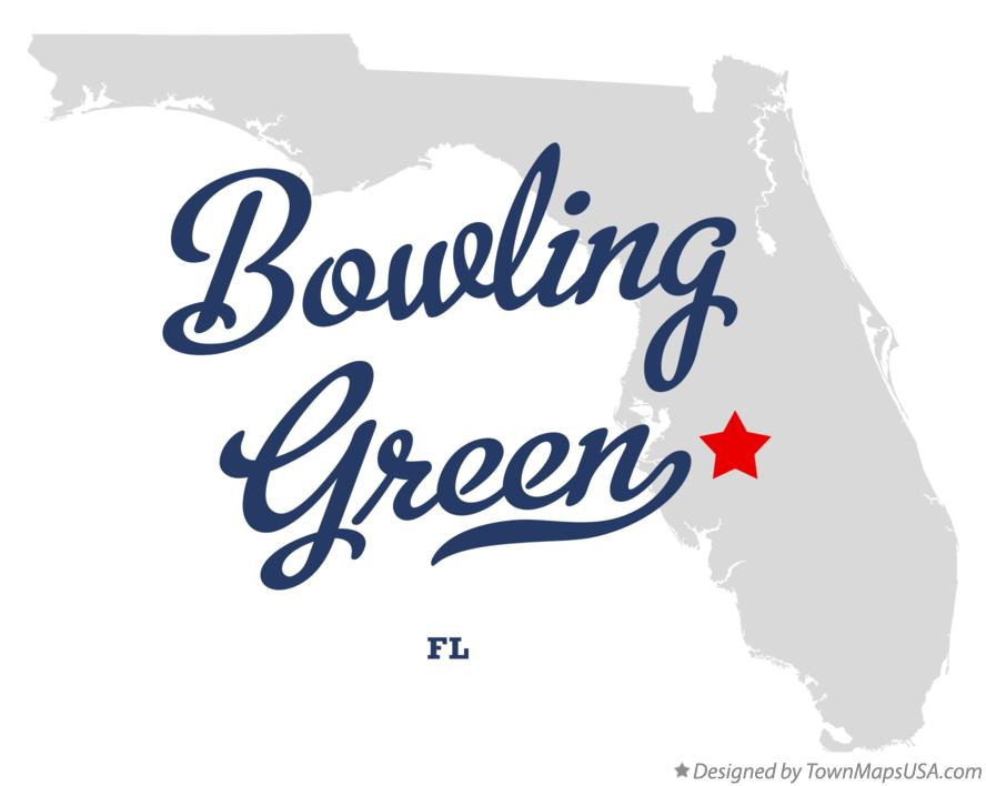 Map of Bowling Green Florida FL