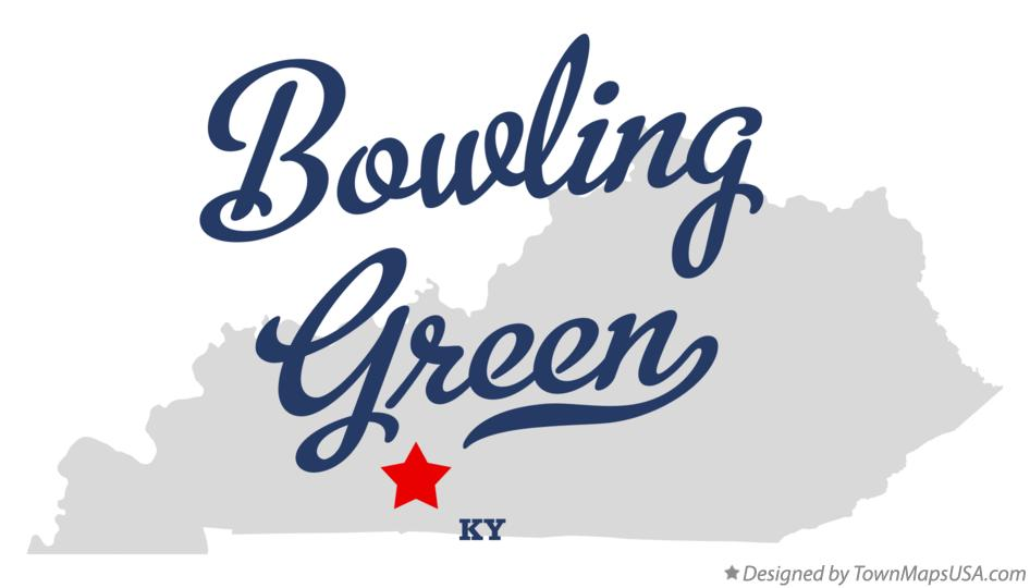 Map of Bowling Green Kentucky KY