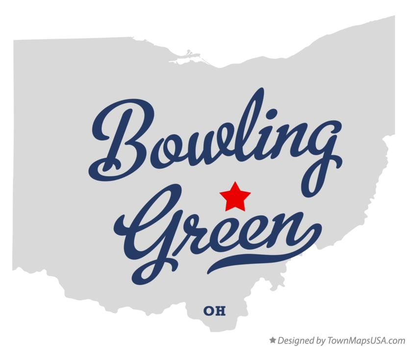 Map of Bowling Green Ohio OH