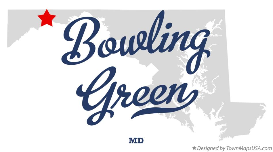 Map of Bowling Green Maryland MD