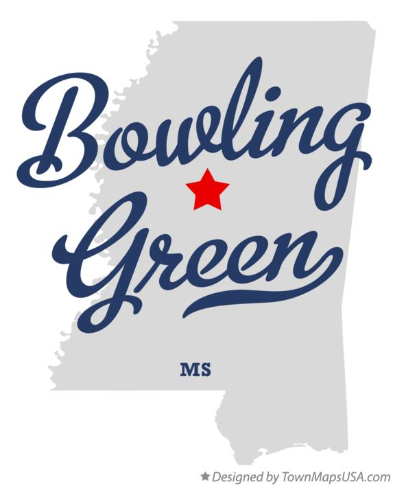 Map of Bowling Green Mississippi MS