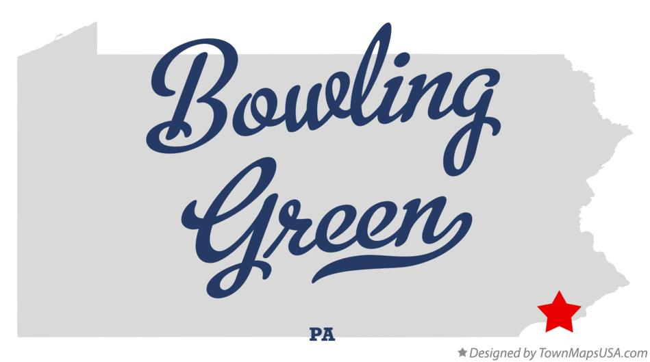 Map of Bowling Green Pennsylvania PA