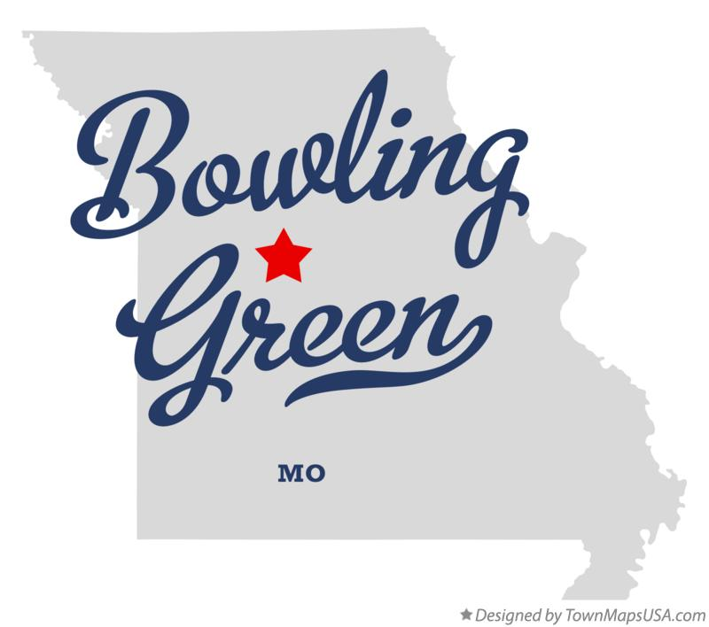 Map of Bowling Green Missouri MO