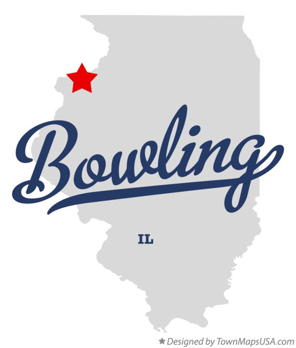 Map of Bowling Illinois IL
