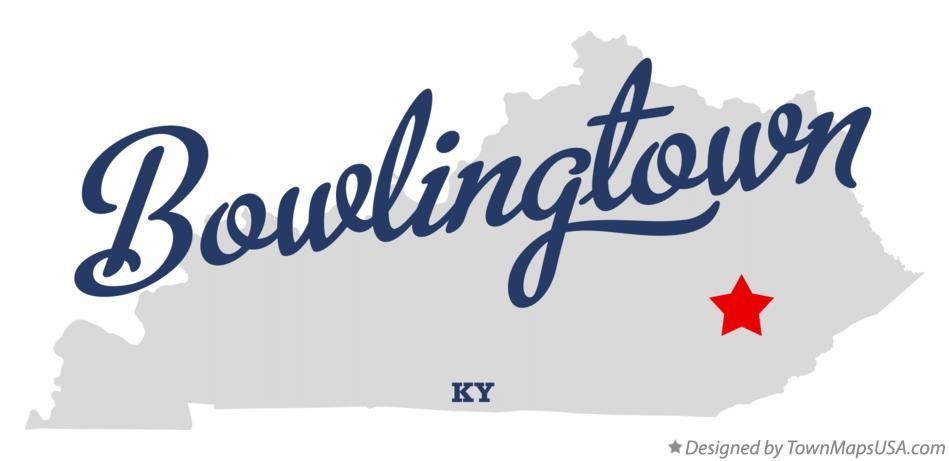 Map of Bowlingtown Kentucky KY