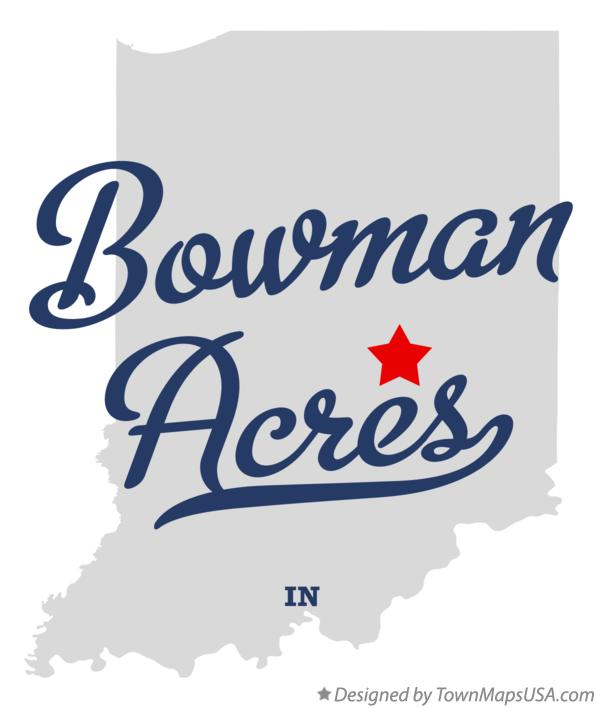 Map of Bowman Acres Indiana IN