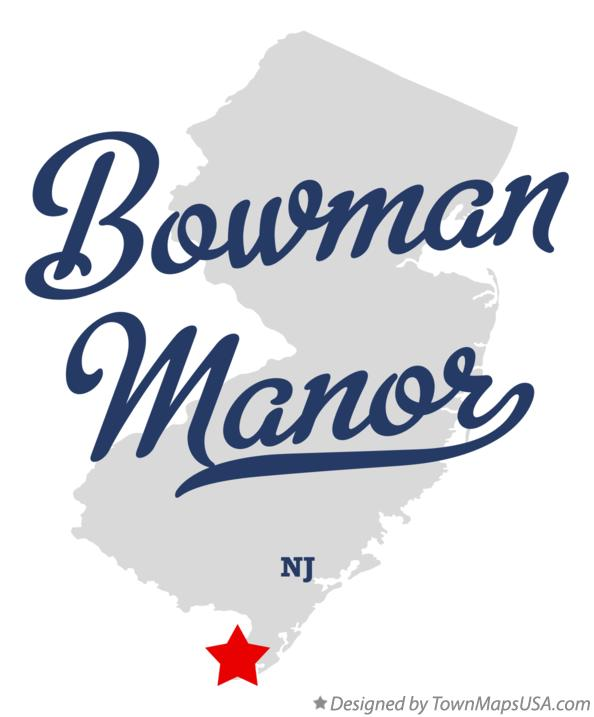 Map of Bowman Manor New Jersey NJ
