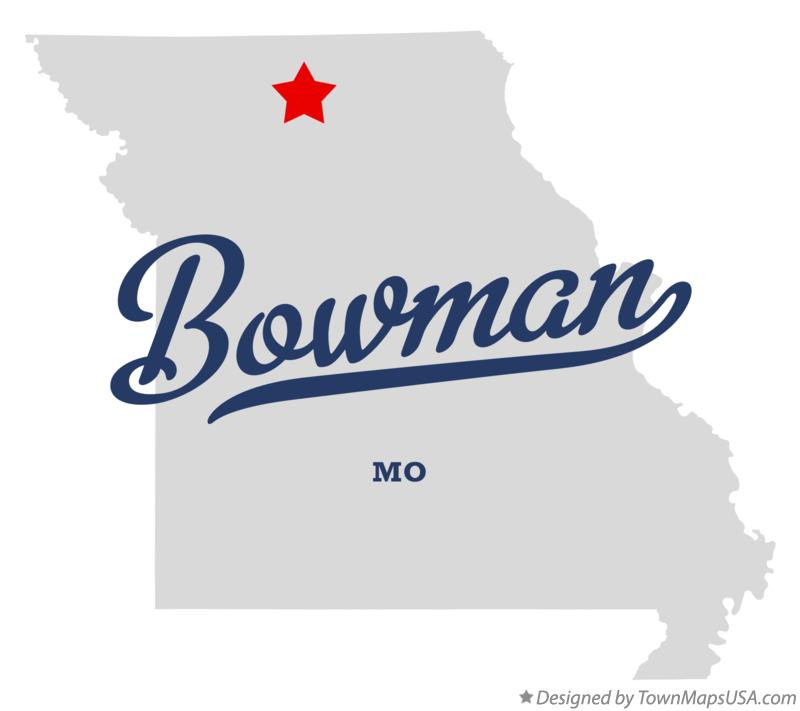 Map of Bowman Missouri MO