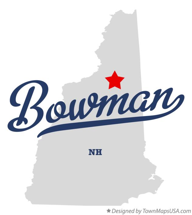 Map of Bowman New Hampshire NH