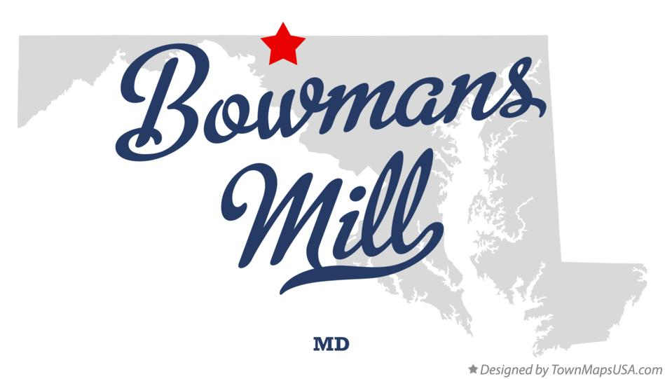 Map of Bowmans Mill Maryland MD