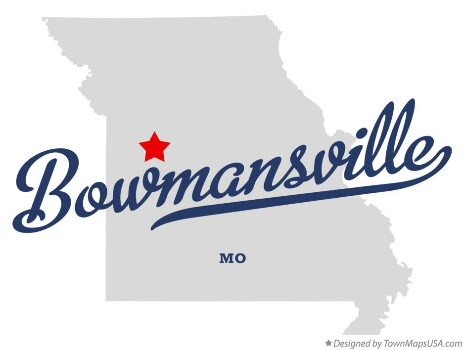 Map of Bowmansville Missouri MO