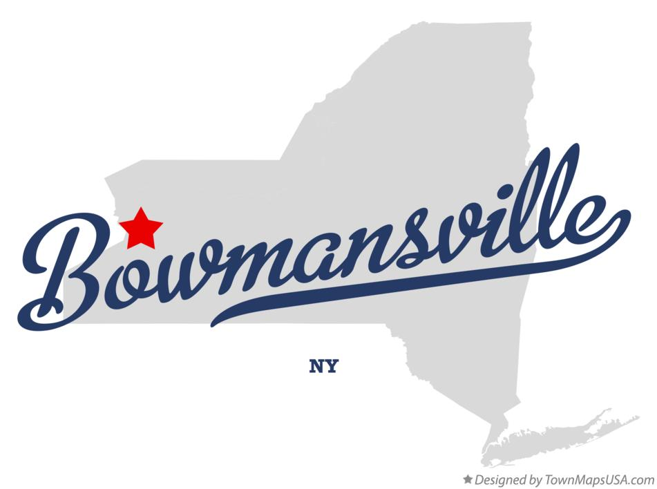 Map of Bowmansville New York NY