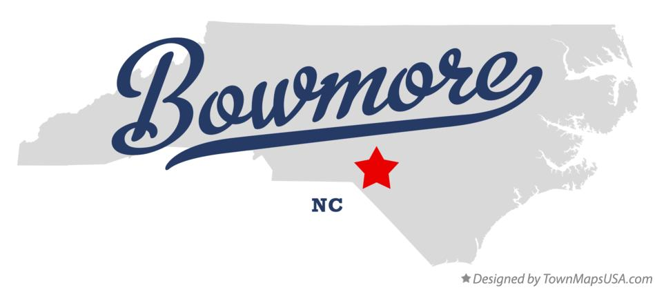 Map of Bowmore North Carolina NC