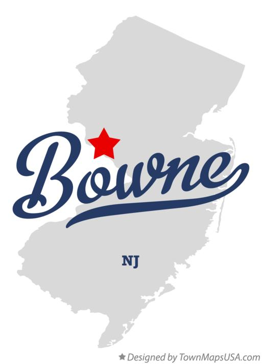 Map of Bowne New Jersey NJ