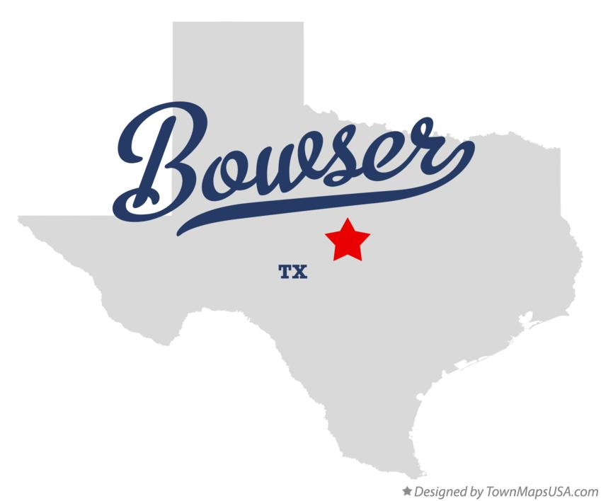 Map of Bowser Texas TX