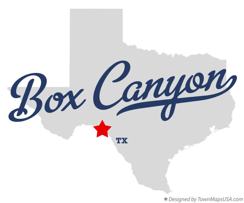 Map of Box Canyon Texas TX