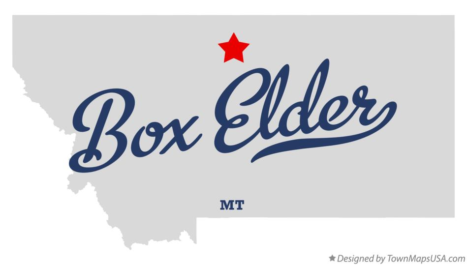 Map of Box Elder MT Montana