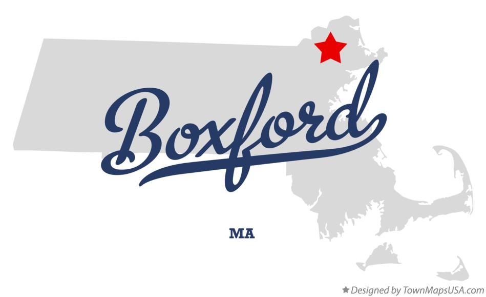 Map of Boxford Massachusetts MA