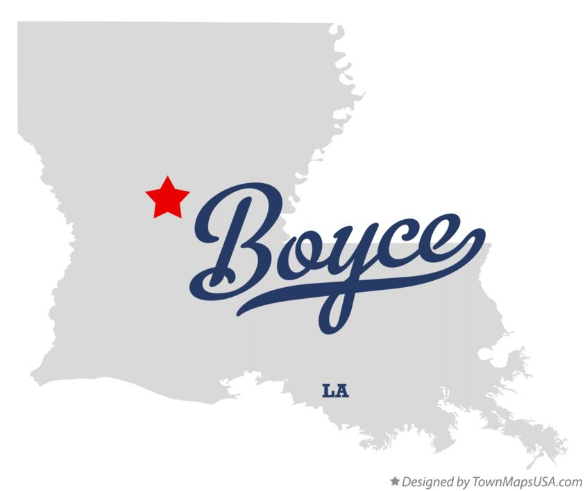 Map of Boyce Louisiana LA