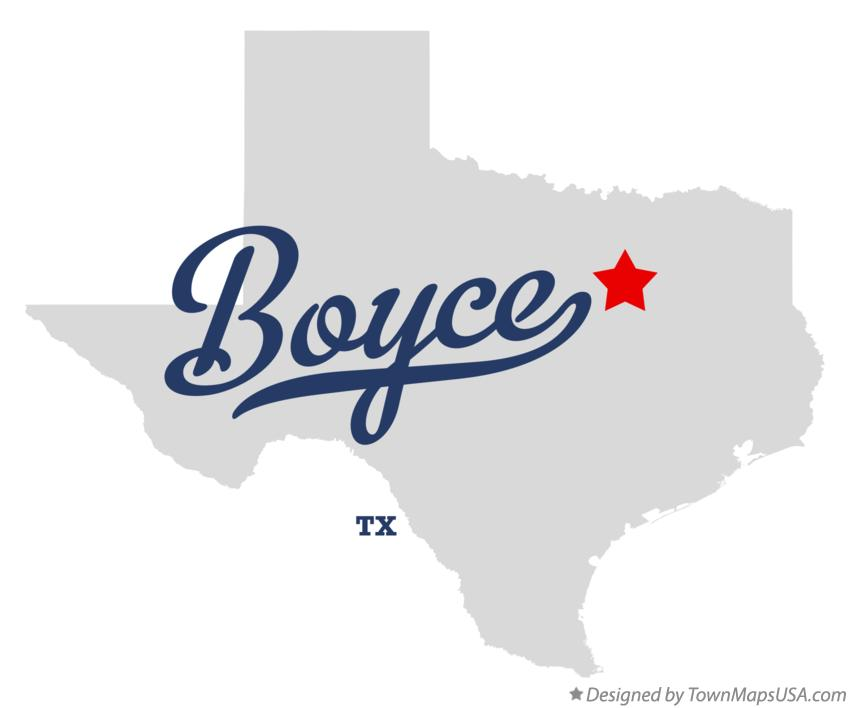 Map of Boyce Texas TX