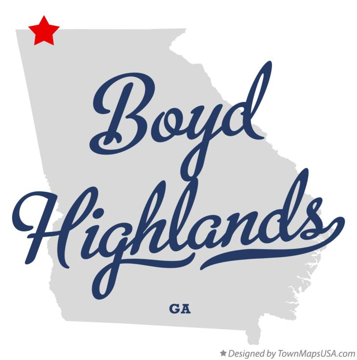Map of Boyd Highlands Georgia GA