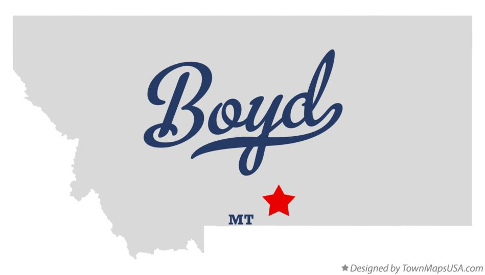 Map of Boyd Montana MT