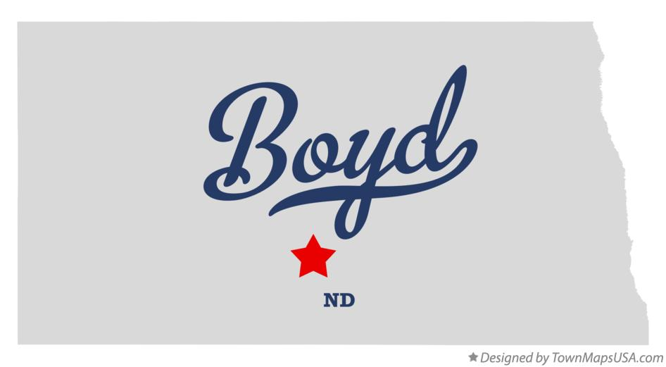 Map of Boyd North Dakota ND
