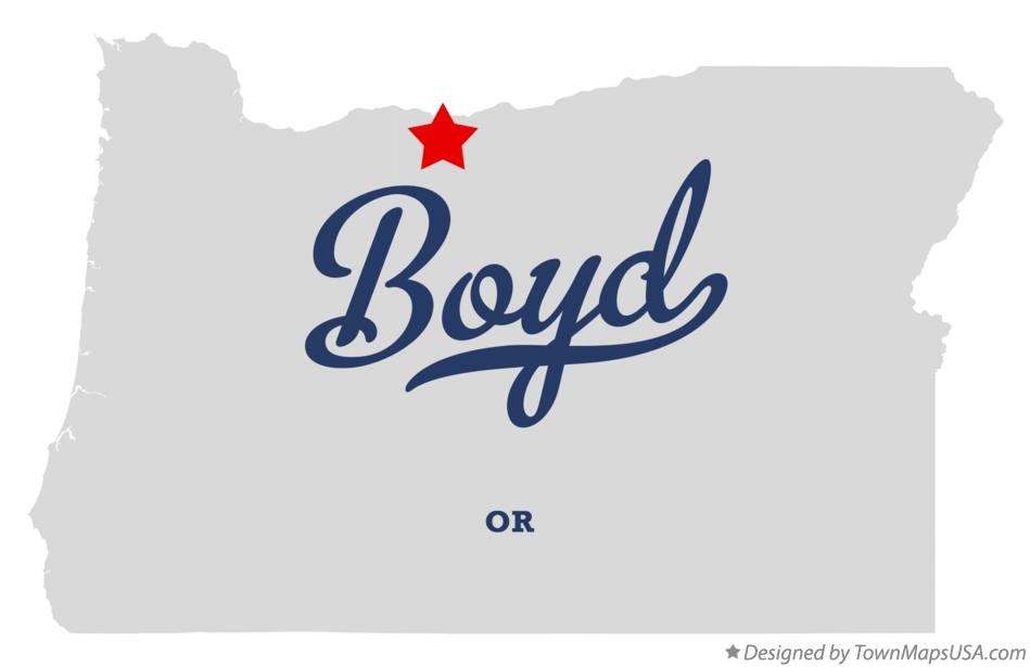Map of Boyd Oregon OR
