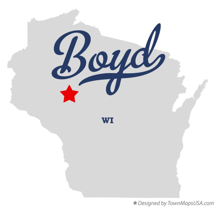 Map of Boyd Wisconsin WI