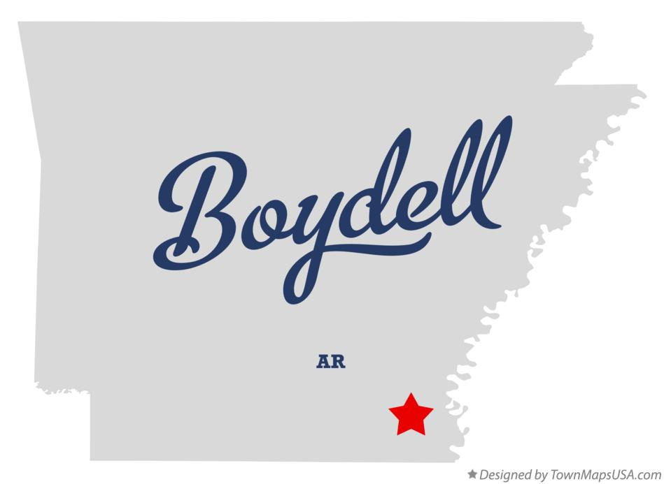 Map of Boydell Arkansas AR