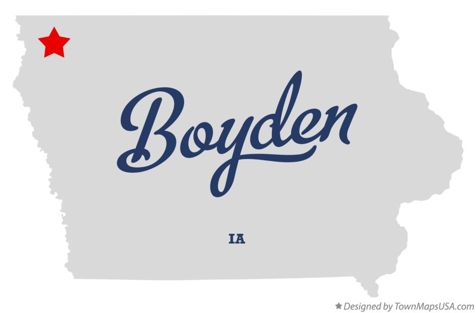 Map of Boyden Iowa IA