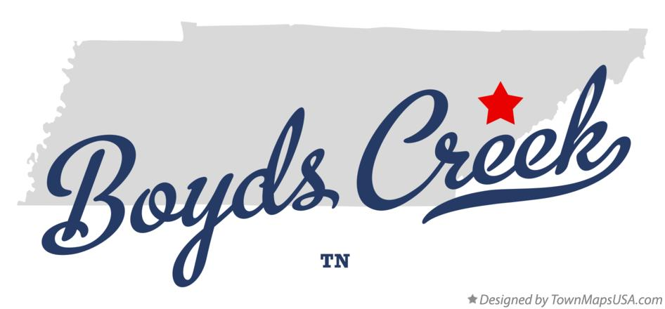 Map of Boyds Creek Tennessee TN