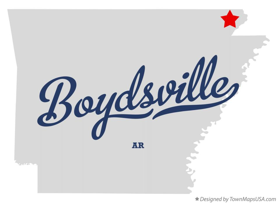 Map of Boydsville Arkansas AR