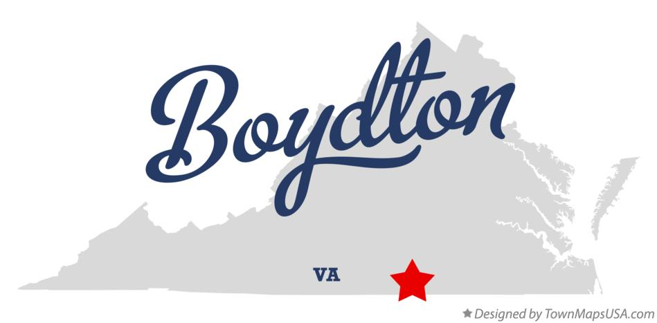 Map of Boydton Virginia VA