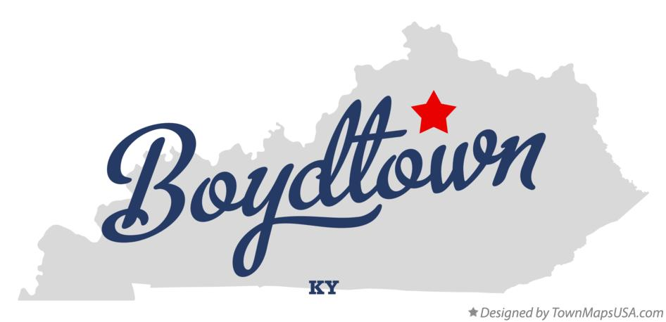 Map of Boydtown Kentucky KY