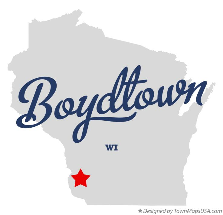 Map of Boydtown Wisconsin WI