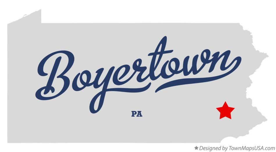 Boyertown Pa Map