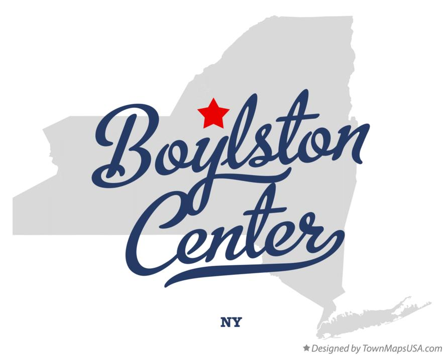 Map of Boylston Center New York NY
